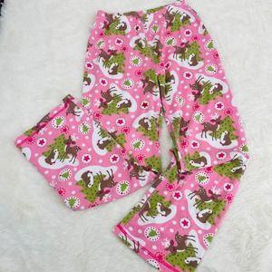 HANNA ANDERSSON Pink Christmas PJ Pants Woodland